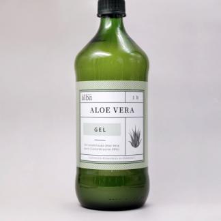 Botella de aloe puro de Apícola el Alba, de 1lt