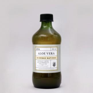 Botella de 500ml dealoe con hierbas nativas