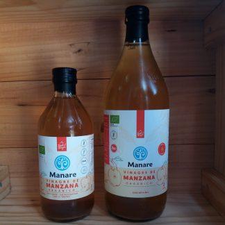 Botella de Vinagre de Manzana Manare de 1lt y de 500ml