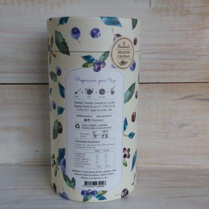 Bosque Azul-Infusion Sensorial- costado envase-como preparar y tabla nutricional
