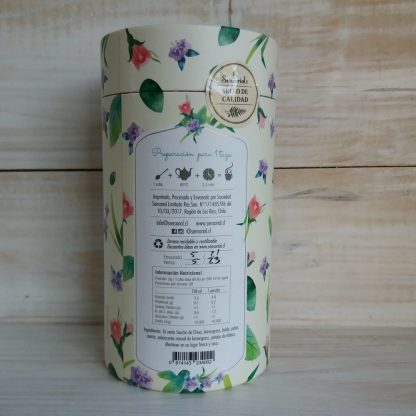 Hierbas Buenas-Infusion Sensorial- costado envase-como preparar y tabla nutricional