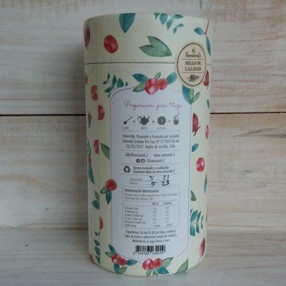 Tierra de Murtas-Infusion Sensorial-costado envase-como preparar y tabla nutricional
