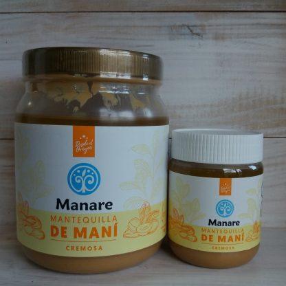 2 tamaños de mantequilla de maní Manare 1kg y 250 gr