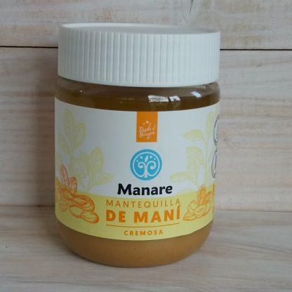 Frasco de mantequilla de maní Manare de 250 grs. Cremosa