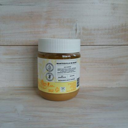 Sellos en etiqueta 100% natural y Libre de gluten. 100% maní. Sin conservantes.. Naturalmente, libre de colesterol