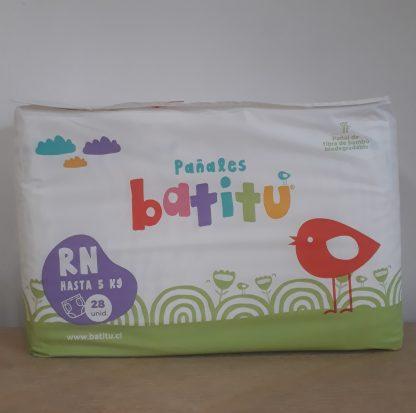 Envase de pañales Batitu RN (recien nacido)